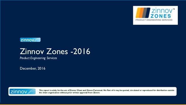 Zinnov Zones 2016 – Product Engineering Services