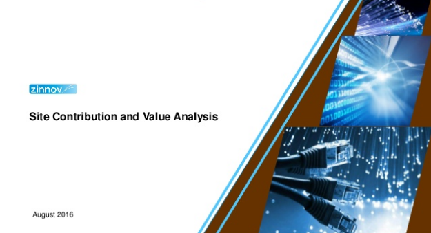 Global In-house site contribution and value analysis