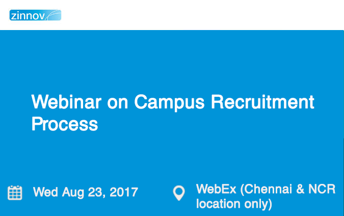 Webinar on Campus Recruitment Process