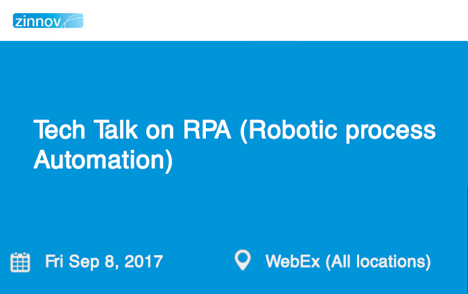 Tech Talk on RPA (Robotic process Automation)