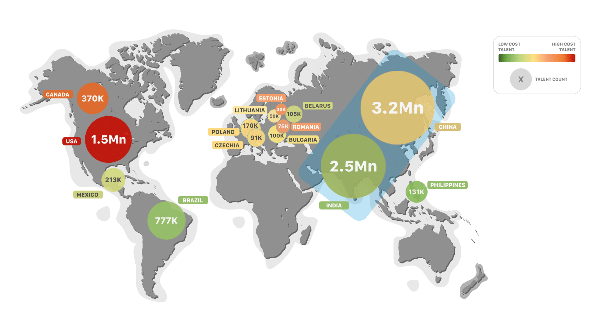 Center Of Excellence Hotspots Global Map