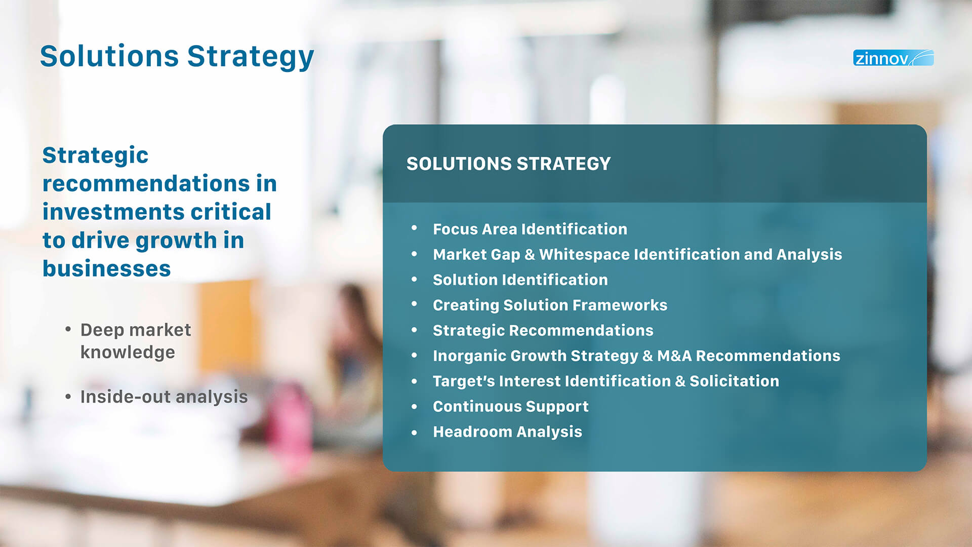 Solutions Strategy