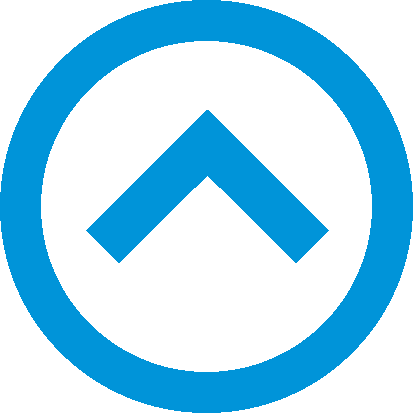 Blue Up Arrow