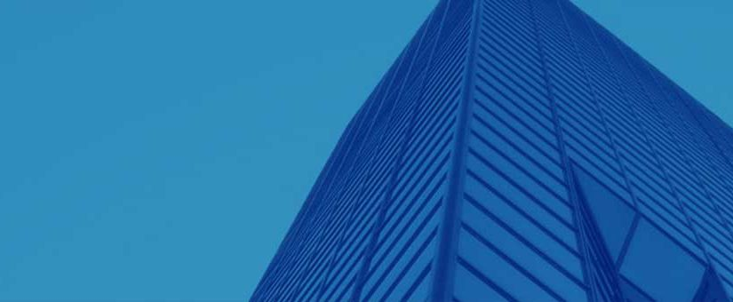 Building in Blue Background