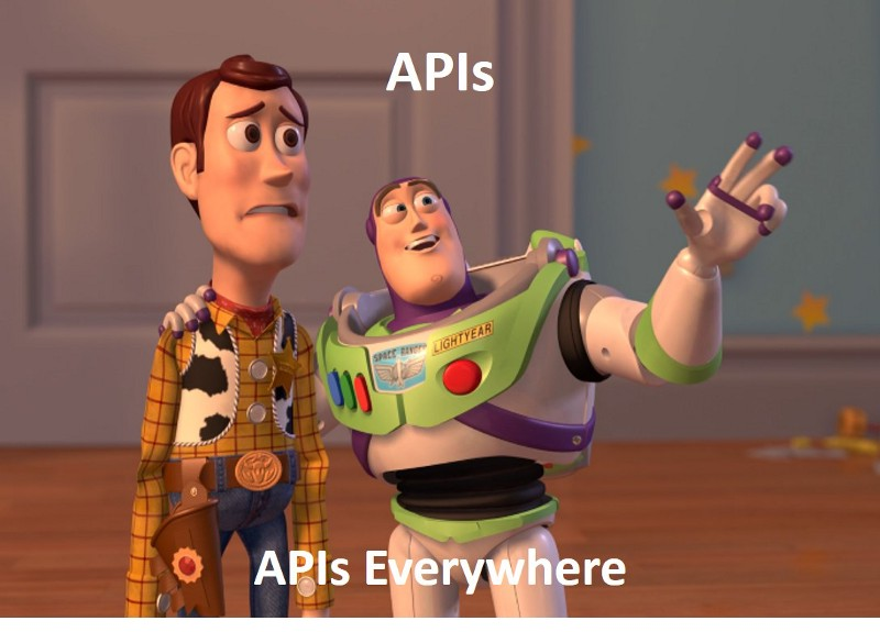 Toy Story's Sheriff Woody and Buzz Lightyear Depicting the State of APIs in Current Tech Industry