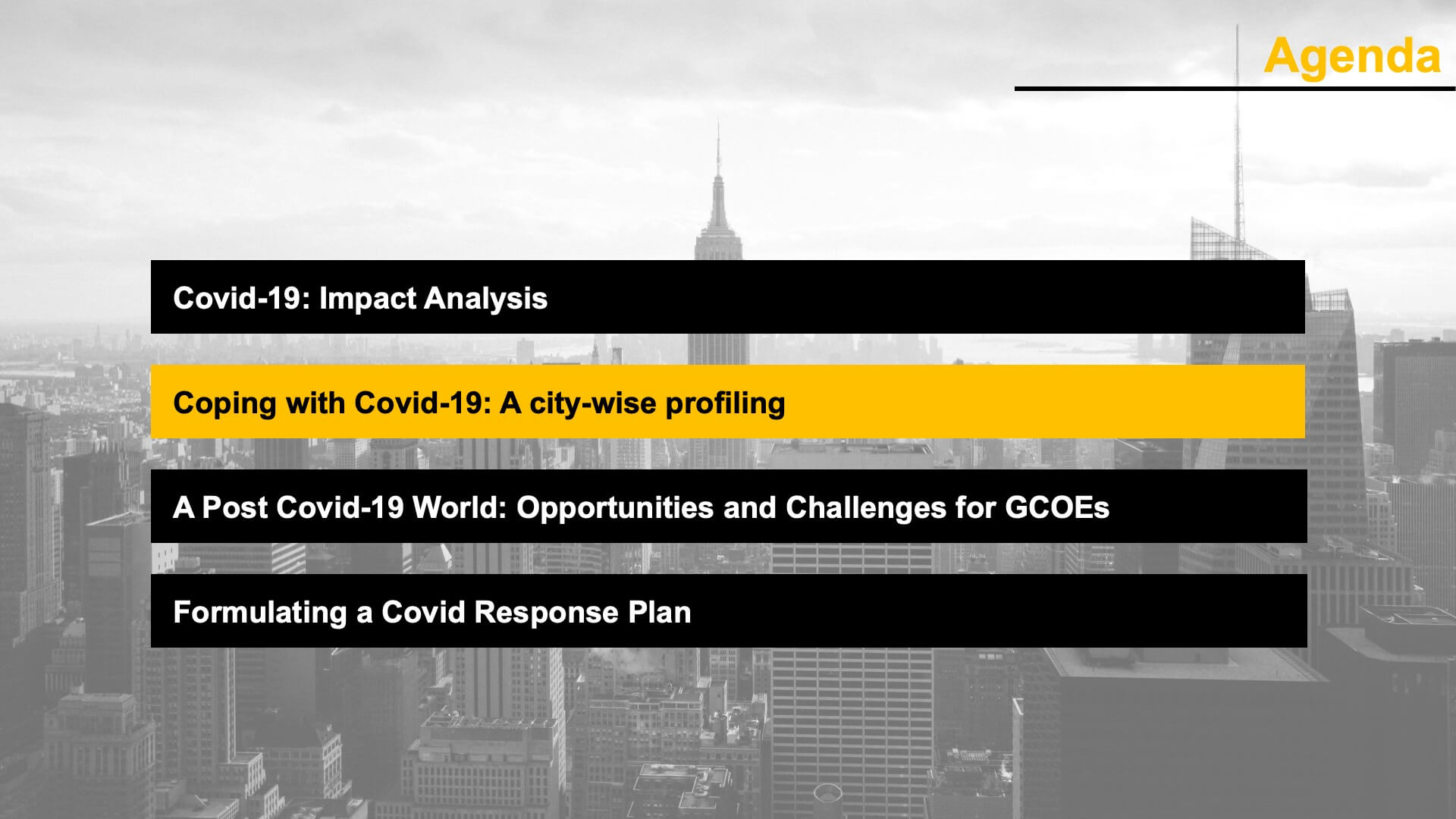 COVID Response Strategy – Devising a Roadmap for Global Centers of Excellence